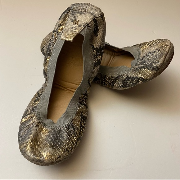 Yosi Samra Snake Ballerina Flats